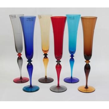 Фужеры для шампанского цветные