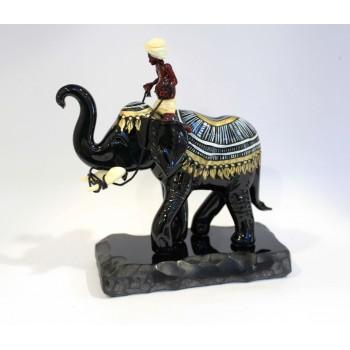 """Статуэтка """"Слон с наездником"""""""