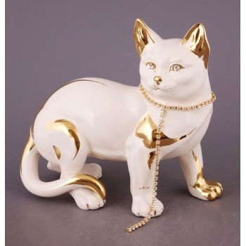 Статуэтка Кошка с ожерельем