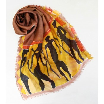 Шелковый шарф батик Африка