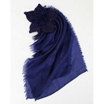 Шелковый шарф батик Ночь