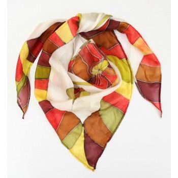 Шелковый платок-косынка Лето