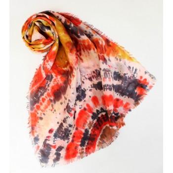 Шелковый шарф батик Хорошее настроение