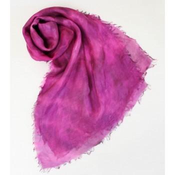 Шелковый шарф батик Северное сияние