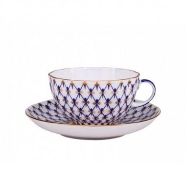 Чашка с блюдцем Сетка-Модерн
