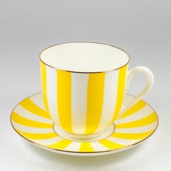 Чашка с блюдцем кофейная Да и Нет (желтый)