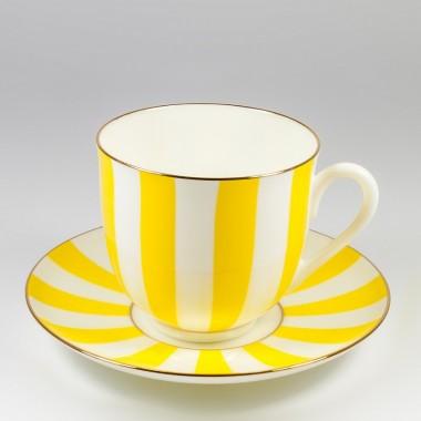 """Чашка с блюдцем кофейная """"Да и Нет"""" (желтый)"""