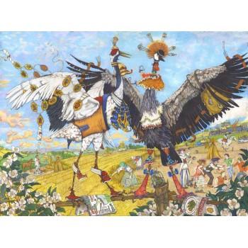 Картина Буква Ж. Журавли