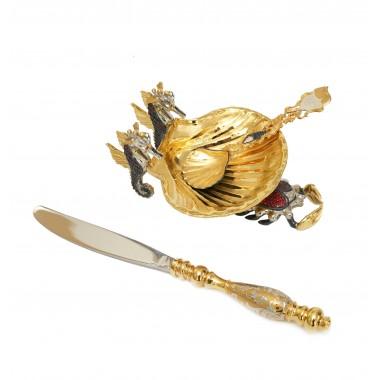 Икорница Краб (ложка, нож)
