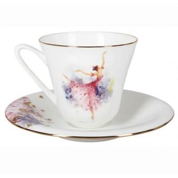 Чашка с блюдцем Фея Сирени
