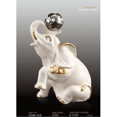 Статуэтка Слон с мячом