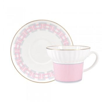 Чашка с блюдцем Геометрия-5